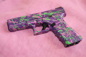 Lisa splatter paing Glock 17web