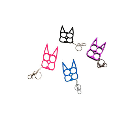 Cat Self Defense Keychain Various Colors The Well Armed Woman