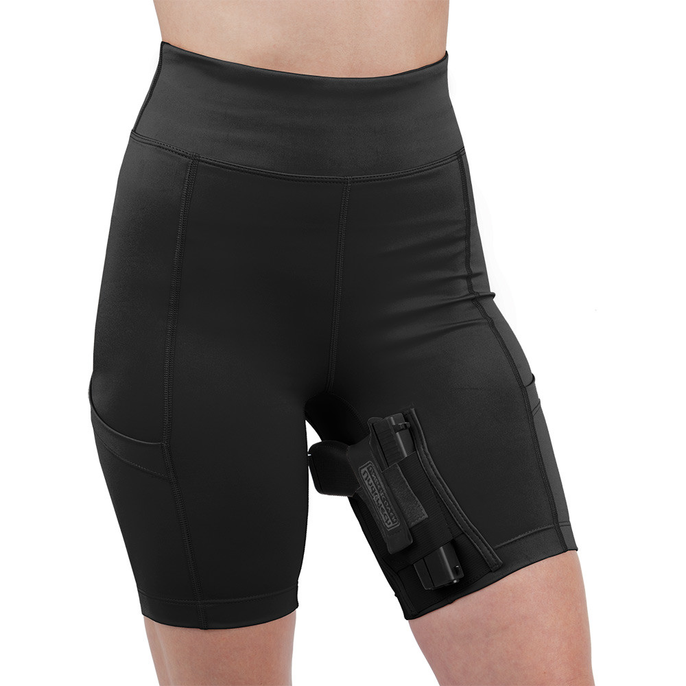 Concealed Carry Thigh Holster Compression Shorts The Well Armed Woman
