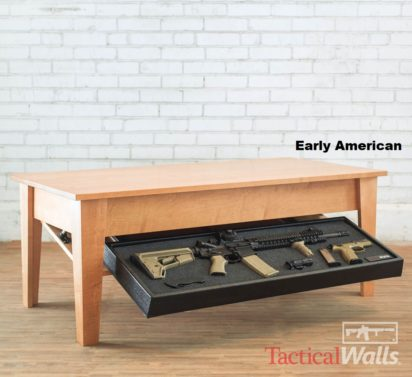 Concealment Coffee Table In Early American